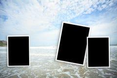 cadre de photo au hin de hua de mer en Thaïlande Image libre de droits