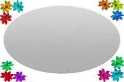 Cadre de photo avec le fond blanc et les côtés colorés Photographie stock libre de droits