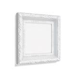 Cadre de photo avec le modèle d'isolement sur le fond blanc 3d rendent Photographie stock