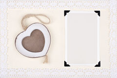 Cadre de photo d'amour Photos libres de droits