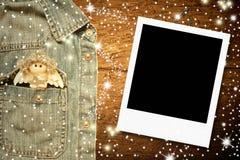 Cadre de photo d'ange de Noël Photos libres de droits