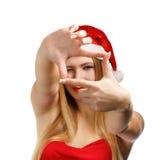 Cadre de photo de Noël Photographie stock libre de droits
