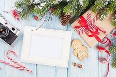 Cadre de photo de Noël Photos libres de droits