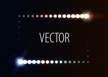 Cadre de point avec des effets de la lumière Photo stock