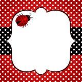 Cadre de points de polka de coccinelle illustration libre de droits