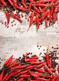 Cadre de poivrons de piment Photographie stock libre de droits