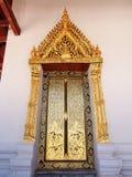 Cadre de porte de temple chez Nonthaburi Thaïlande Photo stock