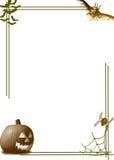 Cadre de potiron de Veille de la toussaint Image libre de droits