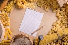 Cadre de pâtes Photographie stock libre de droits
