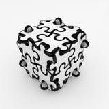 Cadre de puzzle denteux Image stock