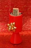 Cadre de ramassage de donation de charité de Noël Images stock