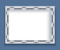 Cadre de rectangle avec la frontière de dentelle Photos stock