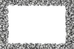 Cadre de rectangle de rendu des pierres sur le fond blanc Photos libres de droits