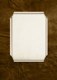 Cadre de rectangle en cuir brun Images libres de droits