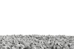 Cadre de rendu fait de pierres se trouvant au fond sur le fond blanc Images stock