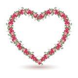 Cadre de Rose avec les roses chics minables illustration libre de droits