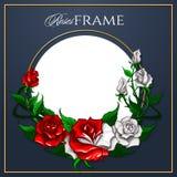 Cadre de roses illustration de vecteur