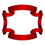 Cadre de rouge de bannière de ruban Image stock