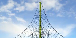Cadre de s'élever de corde contre le beau ciel en Utah photos libres de droits