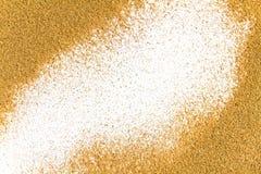 Cadre de sable de mer Photographie stock libre de droits
