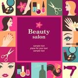 Cadre de salon de beauté Image libre de droits