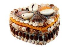 Cadre de Seashell Photographie stock