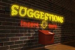 Cadre de suggestions - vue de côté Image stock