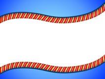 Cadre de Swoosh de canne de sucrerie Photo stock