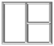 Cadre de tableau argenté balayé Illustration Stock
