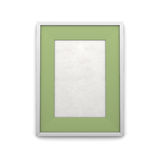 Cadre de tableau avec l'encart vert Photos libres de droits
