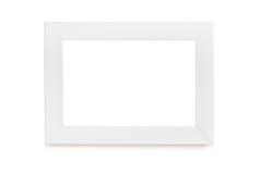 Cadre de tableau blanc au-dessus du fond blanc Images libres de droits