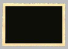 Cadre de tableau blanc de cru, deckle bordé photo libre de droits