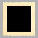 Cadre de tableau blanc de cru, deckle bordé Image stock