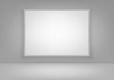 Cadre de tableau blanc vide vide d'affiche de vecteur sur le mur avec le plancher Front View Photos stock