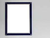 Cadre de tableau bleu Photographie stock