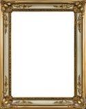 Cadre de tableau décoratif d'or photographie stock libre de droits