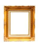 Cadre de tableau d'or. Photo stock