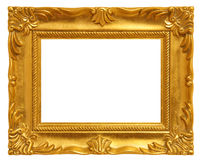 Cadre de tableau d'or Images stock