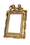 Cadre de tableau d'or Photo stock