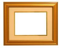 Cadre de tableau d'or avec le couvre-tapis Photo stock