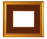 Cadre de tableau d'or avec le couvre-tapis Photos stock
