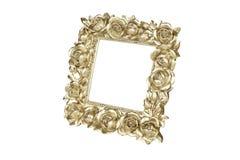 Cadre de tableau d'or avec le décor rose Photos stock