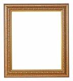 Cadre de tableau d'or avec une configuration décorative Photos libres de droits