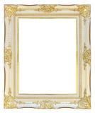 Cadre de tableau d'or blanc Photographie stock libre de droits