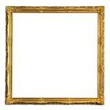 Cadre de tableau d'or décoratif carré images libres de droits