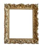 Cadre de tableau d'or de cru Image libre de droits