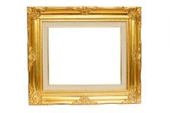 Cadre de tableau d'or de cru Photo libre de droits