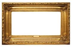 Cadre de tableau d'or large avec le chemin Photographie stock libre de droits
