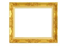 Cadre de tableau d'or sur le fond blanc Images libres de droits