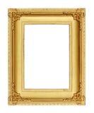 Cadre de tableau d'or sur le fond noir Photos stock